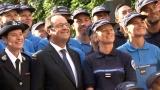 D閒il� du 14 juillet : accueil des personnels p閚itentiaires � la Chancellerie