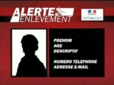 Message de sensibilisation au dispositif Alerte Enlevement