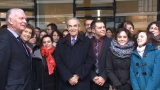Visite de Robert Badinter � l'�cole nationale des greffes