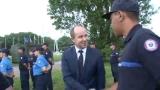 Jean-Jacques Urvoas assiste à la répétition du défilé du 14 juillet à Satory