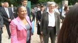 Christiane Taubira visite le service p�nitentiaire d?insertion et de probation de Melun