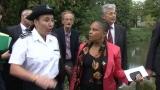 Réforme pénale, Christiane Taubira visite le chantier pénitentiaire extérieur de Toulouse
